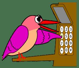 Island bird ruddy Kingfisher, KIRORON sticker #1063224