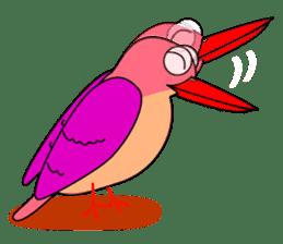 Island bird ruddy Kingfisher, KIRORON sticker #1063231