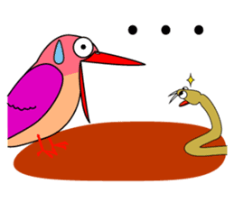Island bird ruddy Kingfisher, KIRORON sticker #1063232