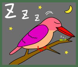 Island bird ruddy Kingfisher, KIRORON sticker #1063240