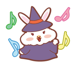 Kawaii Rabbits / Halloween sticker #1063522
