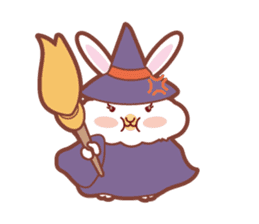 Kawaii Rabbits / Halloween sticker #1063523