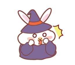Kawaii Rabbits / Halloween sticker #1063524