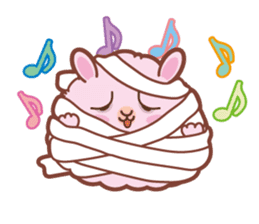 Kawaii Rabbits / Halloween sticker #1063530