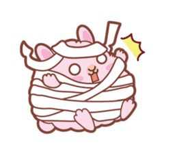 Kawaii Rabbits / Halloween sticker #1063532
