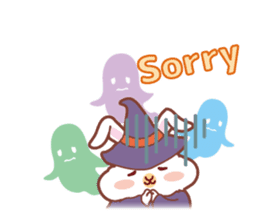 Kawaii Rabbits / Halloween sticker #1063535