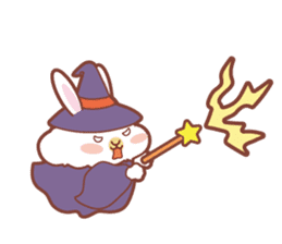 Kawaii Rabbits / Halloween sticker #1063536