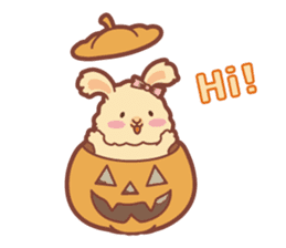 Kawaii Rabbits / Halloween sticker #1063538