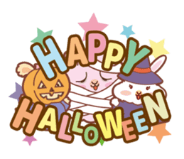 Kawaii Rabbits / Halloween sticker #1063547