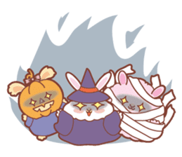 Kawaii Rabbits / Halloween sticker #1063554