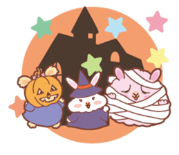 Kawaii Rabbits / Halloween sticker #1063559