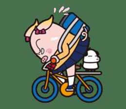 Life of the pig high school girl sticker #1064124