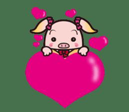 Life of the pig high school girl sticker #1064126