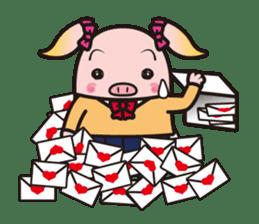 Life of the pig high school girl sticker #1064128