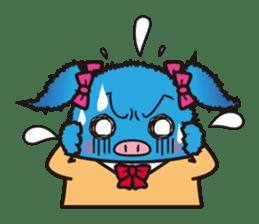 Life of the pig high school girl sticker #1064137