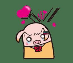 Life of the pig high school girl sticker #1064147