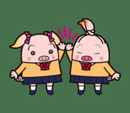Life of the pig high school girl sticker #1064151