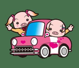 Life of the pig high school girl sticker #1064154