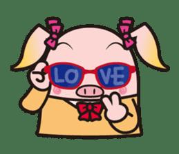 Life of the pig high school girl sticker #1064159