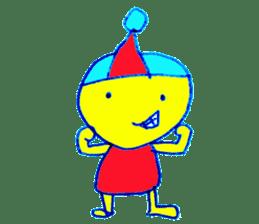 I am colorful boy sticker #1065807
