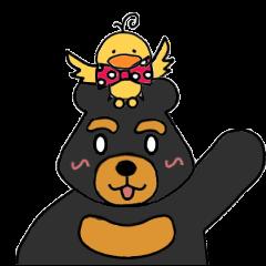 Bowknot Duck&Lai bear