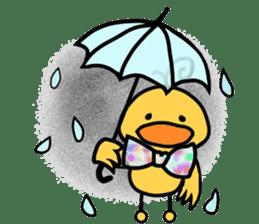 Bowknot Duck&Lai bear sticker #1066030