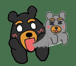 Bowknot Duck&Lai bear sticker #1066043