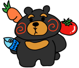 Bowknot Duck&Lai bear sticker #1066047