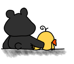 Bowknot Duck&Lai bear sticker #1066059