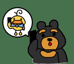 Bowknot Duck&Lai bear sticker #1066060
