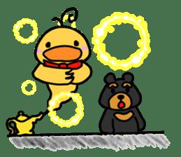 Bowknot Duck&Lai bear sticker #1066061