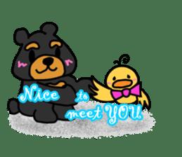 Bowknot Duck&Lai bear sticker #1066062
