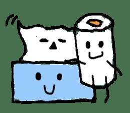 tissue and bath tissue sticker #1066158