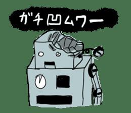 Robot tin sticker #1066556