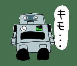 Robot tin sticker #1066558