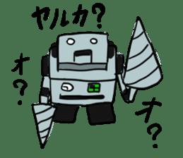 Robot tin sticker #1066560