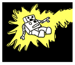 Robot tin sticker #1066563