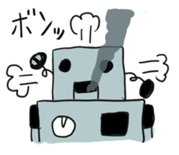 Robot tin sticker #1066564