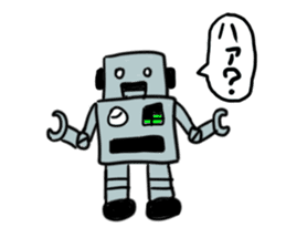 Robot tin sticker #1066568