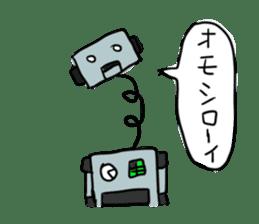 Robot tin sticker #1066571