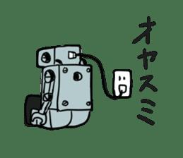 Robot tin sticker #1066574