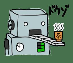 Robot tin sticker #1066575