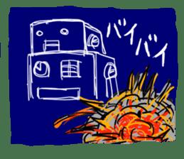 Robot tin sticker #1066583