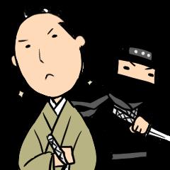 EDO Sticker -Ninja,Samurai,dog&cat