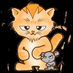 Tigza naughty cat sticker