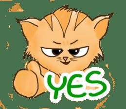 Tigza naughty cat sticker sticker #1067245