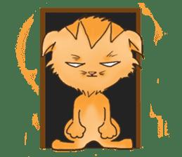 Tigza naughty cat sticker sticker #1067254