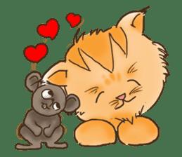 Tigza naughty cat sticker sticker #1067258