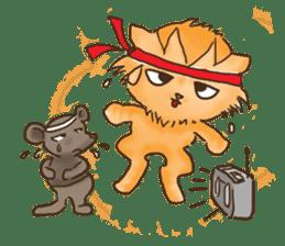 Tigza naughty cat sticker sticker #1067261