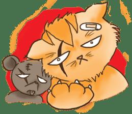Tigza naughty cat sticker sticker #1067264